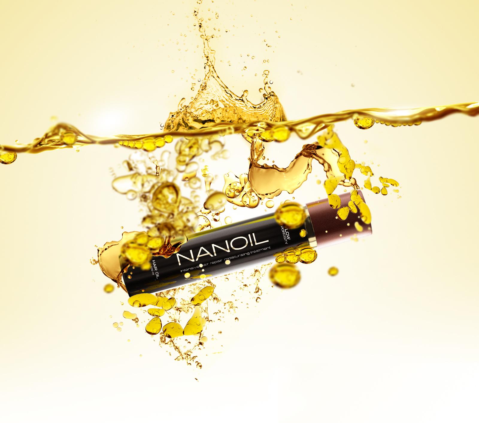 Um produto, seis óleos. Nanoil para cabelo seco e danificado